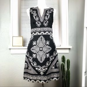 White House Black Market Silk Sleeveless Dress